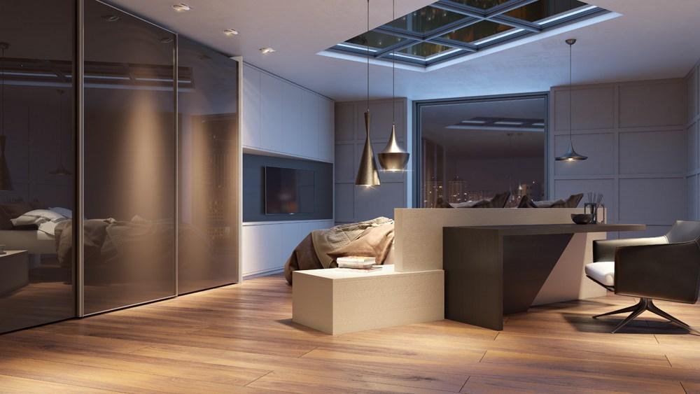 Móveis planejados para quarto de casal coleção Fifty collection