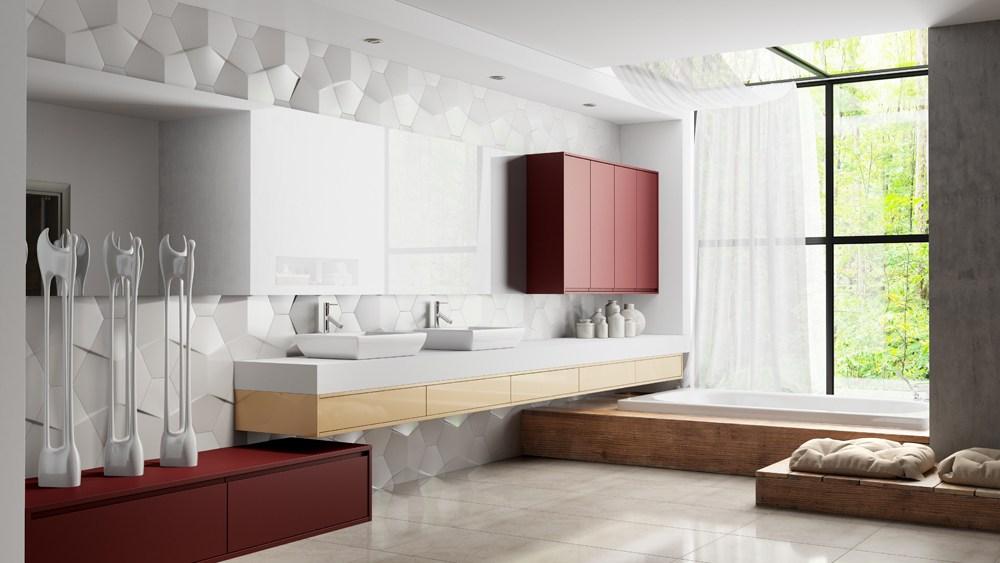 móveis planejados para banheiro-Laccato-Legno-Colore-Molinara